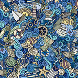 Seamless pattern sealife and marine Stock Photo