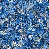 Seamless pattern sealife and marine Stock Photos