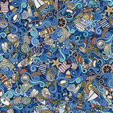 Seamless pattern sealife and marine Royalty Free Stock Photos