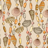 Seamless pattern of seashell jewelry Royalty Free Stock Images