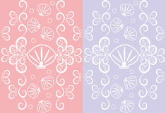 Seamless pattern with seashells Royalty Free Stock Image