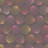 Seamless pattern of seashells Royalty Free Stock Images