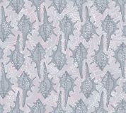 Seamless pattern with seashells on a gray backgrou Stock Photo