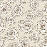 Seamless pattern of seashells Stock Image