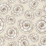 Seamless pattern of seashells Stock Image