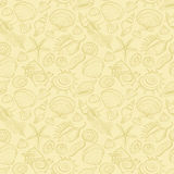 Seamless pattern of seashells. Royalty Free Stock Image