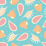 Seamless pattern of seashells Royalty Free Stock Photography