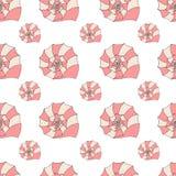 Seamless pattern of seashells Royalty Free Stock Photos