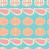 Seamless pattern of seashells Royalty Free Stock Photography