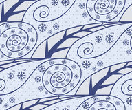 Seamless pattern with season winter Stock Photography