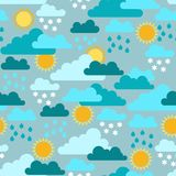 Seamless pattern with seasons and weather Stock Photo