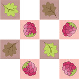 Seamless  pattern  in a section with raspberry Royalty Free Stock Photos