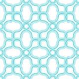 Seamless pattern of semi-circular and circular elements. Stock Photography