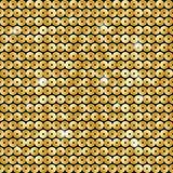 Seamless pattern with sequins. Seamless pattern with golden sequins Stock Photo