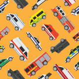Seamless pattern service cars Royalty Free Stock Image