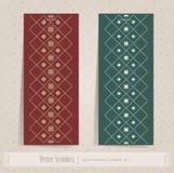 Seamless pattern set Stock Photography