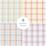 4 Seamless pattern Stock Photos