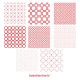 Seamless pattern set Stock Images