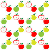 Seamless pattern of set apples Royalty Free Stock Images