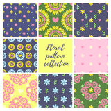 Seamless pattern set. Background collection royalty free illustration