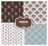 Seamless Pattern Set. Set of 4 backgrounds with seamless pattern. Vector illustration royalty free illustration