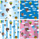 Seamless pattern set balloons Stock Photography