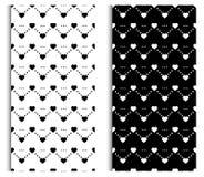Black and white seamless pattern set. Texture, background for, textiles, home decor, web design stock illustration