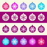 Seamless Pattern from Set of Christmas Balls with Stock Photography
