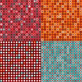 Seamless Pattern Set with Circles Royalty Free Stock Images