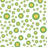Seamless pattern, set coins on a white background. Flat illustration EPS 10.  royalty free illustration