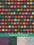 Seamless pattern set. Colorful handbags Stock Images