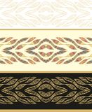 Seamless laced  pattern with art feathers Royalty Free Stock Images
