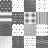 Seamless pattern set Royalty Free Stock Photos