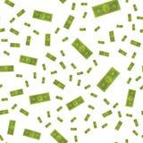 Seamless pattern, set dollars on a white background. Flat  illustration EPS 10 Royalty Free Stock Photos