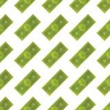 Seamless pattern, set dollars on a white background. Flat  illustration EPS 10 Royalty Free Stock Photo