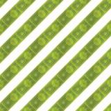 Seamless pattern, set dollars on a white background. Flat  illustration EPS 10 Royalty Free Stock Images