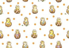 Seamless pattern set of a family of seven friendly hedgehogs who are having fun. Reading, knitting, eating, sleeping, playing, cal royalty free illustration