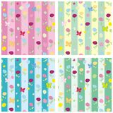 Seamless pattern set flowers Stock Images