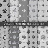 Seamless pattern set Royalty Free Stock Photos
