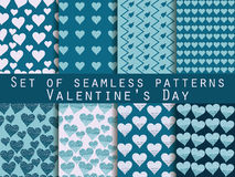 Seamless pattern set. Heart. Valentine's Day. Vector. Seamless pattern set. Heart. Valentine's Day. Abstract vector backgrounds Stock Photo