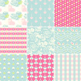 Seamless pattern set Royalty Free Stock Images
