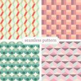 Seamless pattern set 1 Stock Photos