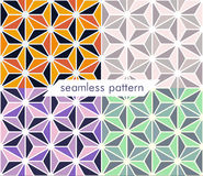 Seamless pattern set 12. Illustration vector seamless geometric pattern in retro style set 12 Royalty Free Stock Image