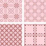 Seamless pattern set. Maroon seamless pattern wallpaper set Royalty Free Stock Images