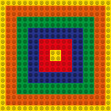 Seamless pattern - a set of multicolored blocks of the designer. Stock Photography