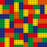 Seamless pattern - a set of multicolored blocks of the designer. Royalty Free Stock Photo