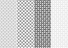 Seamless Pattern Set Royalty Free Stock Photo