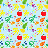 Seamless pattern with set of school doodle. EPS 10 Royalty Free Stock Images