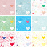 Seamless pattern. Set - sea ​​summer seamless patterns. vector image Royalty Free Stock Image