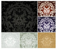 Seamless Pattern set of six colors Royalty Free Stock Images
